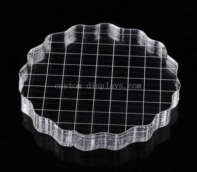 CBL-005-1 Round acrylic stamping blocks