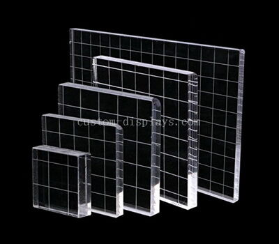 Square Acrylic Stamp block