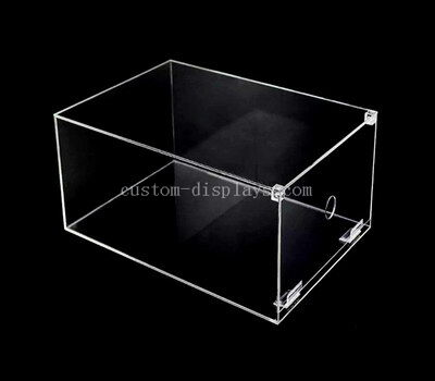 CAB-177-1 Custom acrylic drop front shoe box