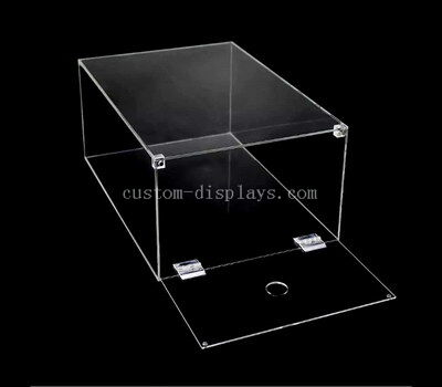 Custom acrylic drop front shoe box