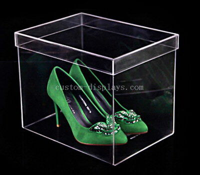 High heeled acrylic shoes box
