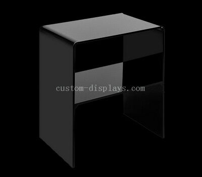 Black acrylic nightstand