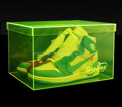 Colored acrylic shoe box