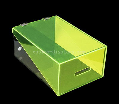 CAB-184 Acrylic shoe box with hinged lid