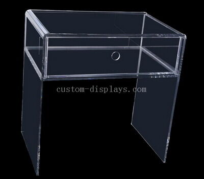 Clear Acrylic Side Table With Drawer