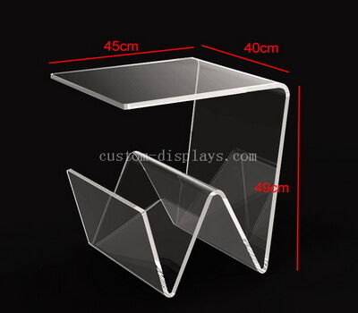 CAF-058-1 Acrylic Side Table With Magazine Holder