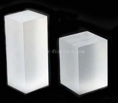 Custom frosted acrylic block