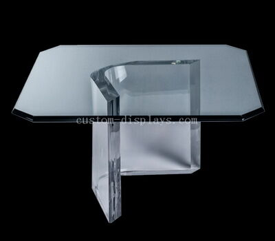 Transparent acrylic side table