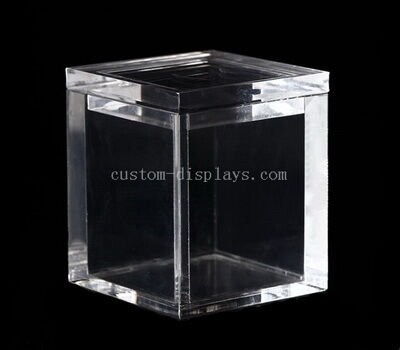 Custom acrylic storage boxes with lids