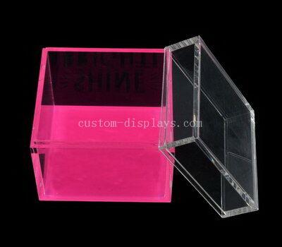 CAB-188-1 Custom table topics question cards acrylic cube box wholesale