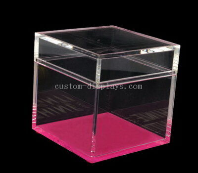 Custom table topics question cards acrylic cube box wholesale
