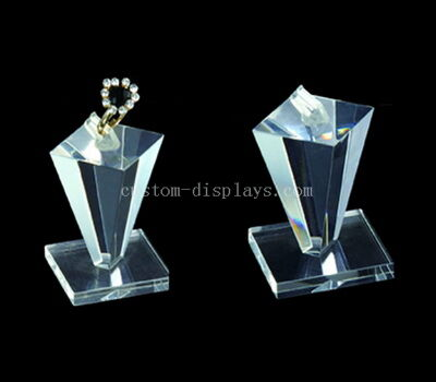 Unusual crystal clear acrylic ring display stands wholesale