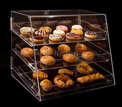 Custom made clear acrylic display cabinet for cake bread