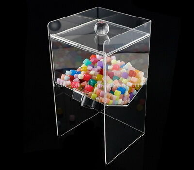 Transparent acrylic candy display bin made to order