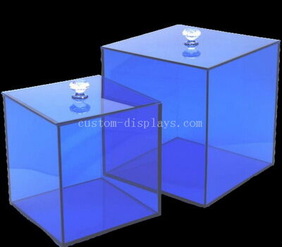 Custom acrylic storage box bins container with lid
