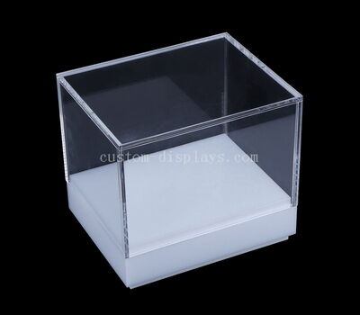 Custom acrylic display box with white base