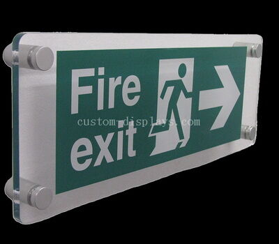 Wall Mounted Fire Emergency Exit Acrylic Sign Board