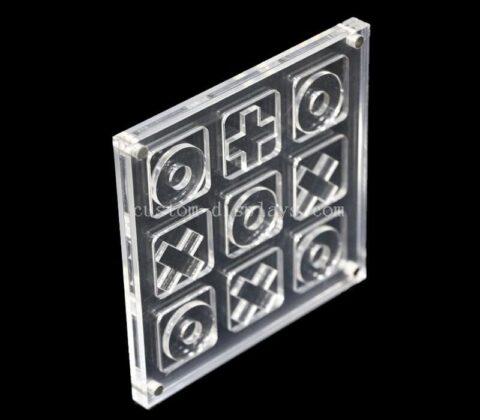 Custom made acrylic materIal mini tic tac toe game gift