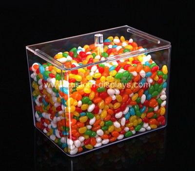 Custom acrylic candy jars with lids